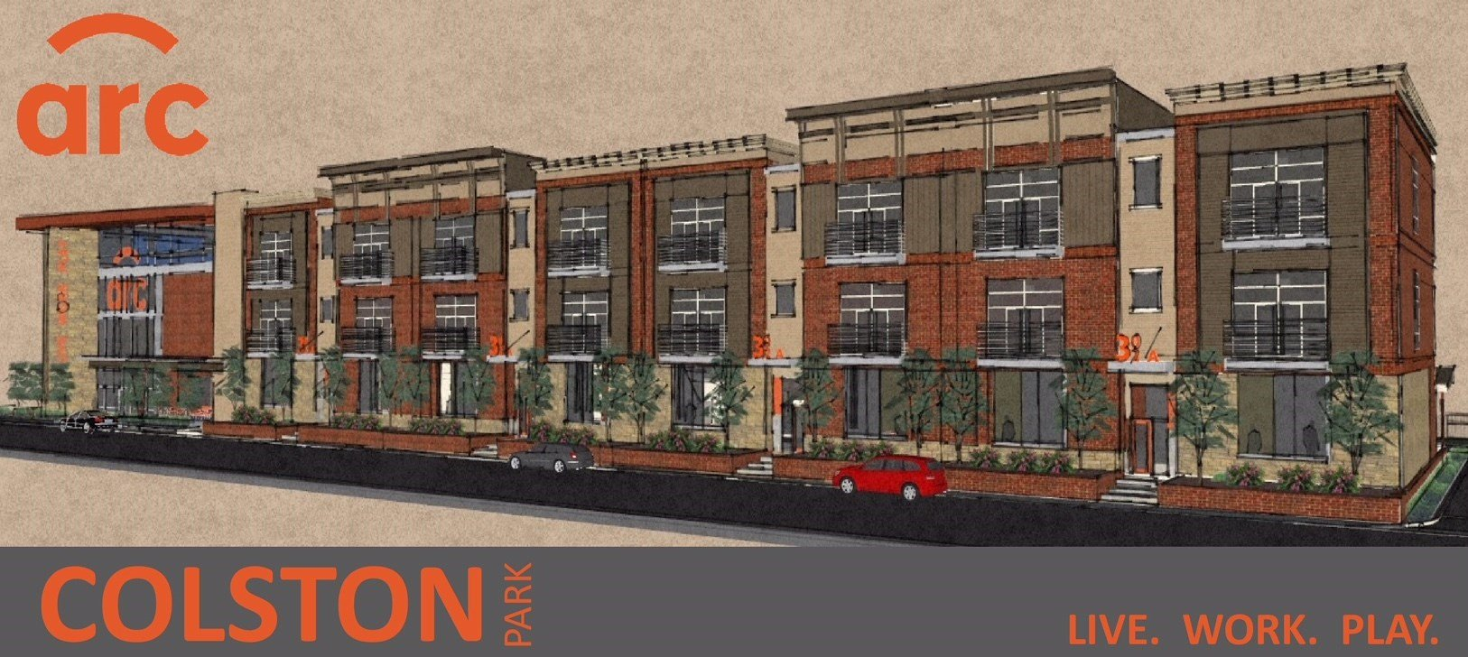 ARC Construction broke ground on a new luxury apartment complex at the base of the Big Four Bridge.