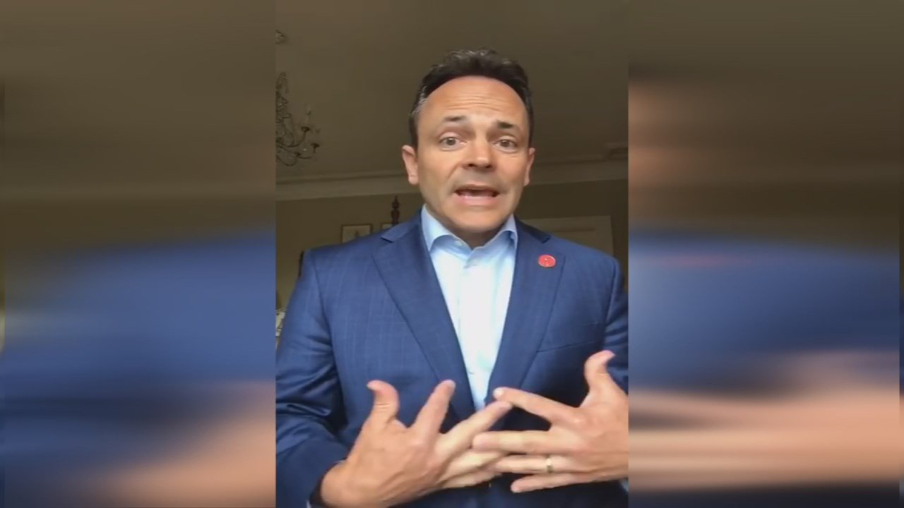 """In a video release, Gov. Bevin said he was sorry for those that had been """"hurtby things that I have said."""""""