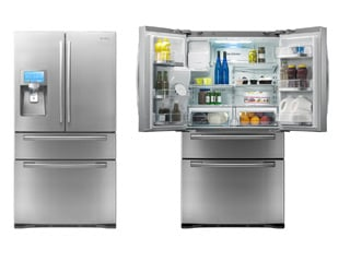 Samsung 4-door LCD refrigerator with apps (Source: Digital Trends)