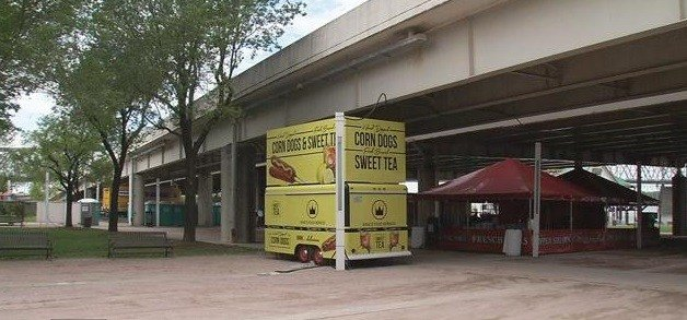A staple of the Kentucky Derby Festival is scheduled to move in Tuesday afternoon, when crews start setting up the Chow Wagon at Waterfront Park.