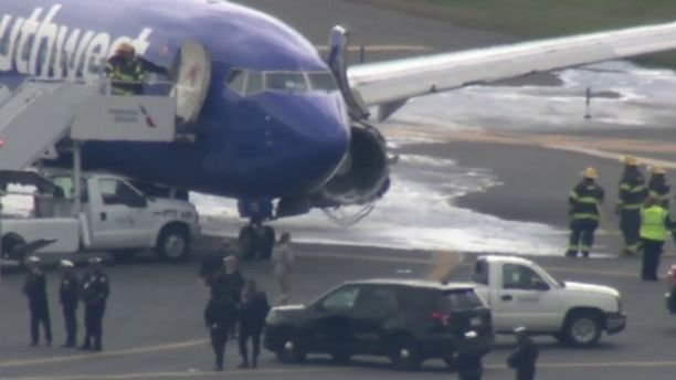 A passenger was reportedly injured, when the engine on a Southwest Airlines plane exploded. (Photo courtesy Fox News)