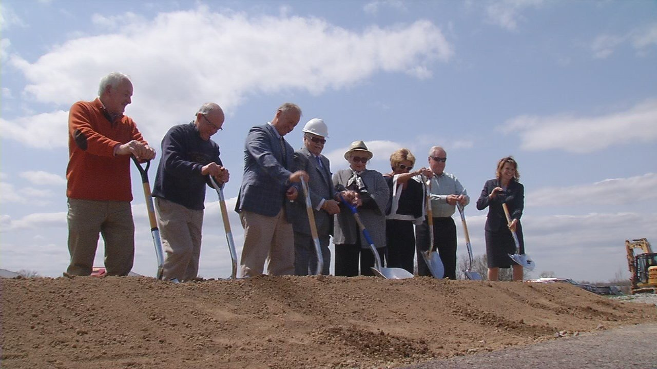 Mr. P Express broke ground Wednesday in Jeffersonville on a new truck driving school.
