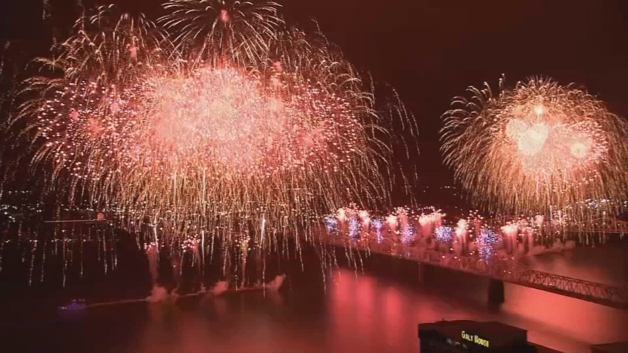 Thunder's fireworks include 58-tons of shells for a 28 minute show.