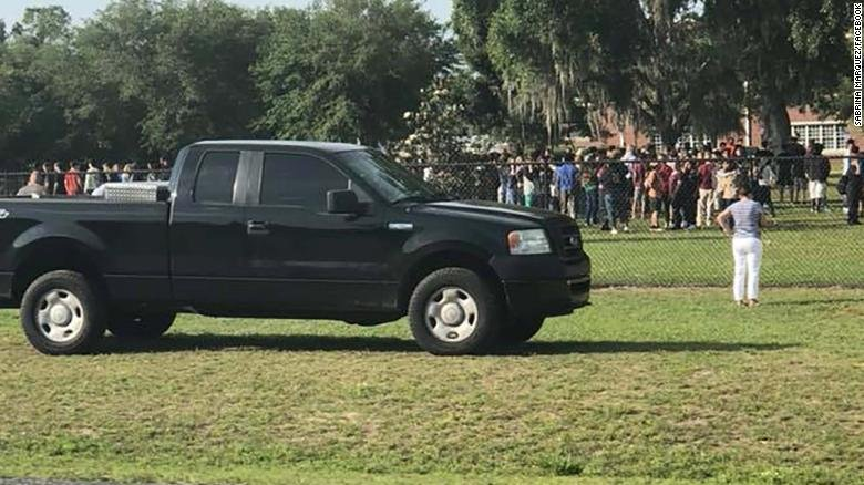 One student was injured and one in custody after school shooting in Ocala, Florida. (Courtesy CNN)