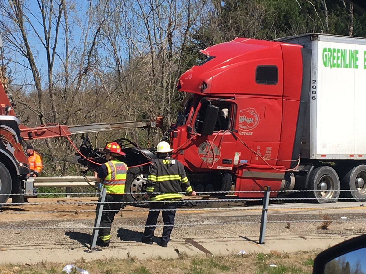 A wreck involving 3 semis closed SB I-71 for hours on Friday.
