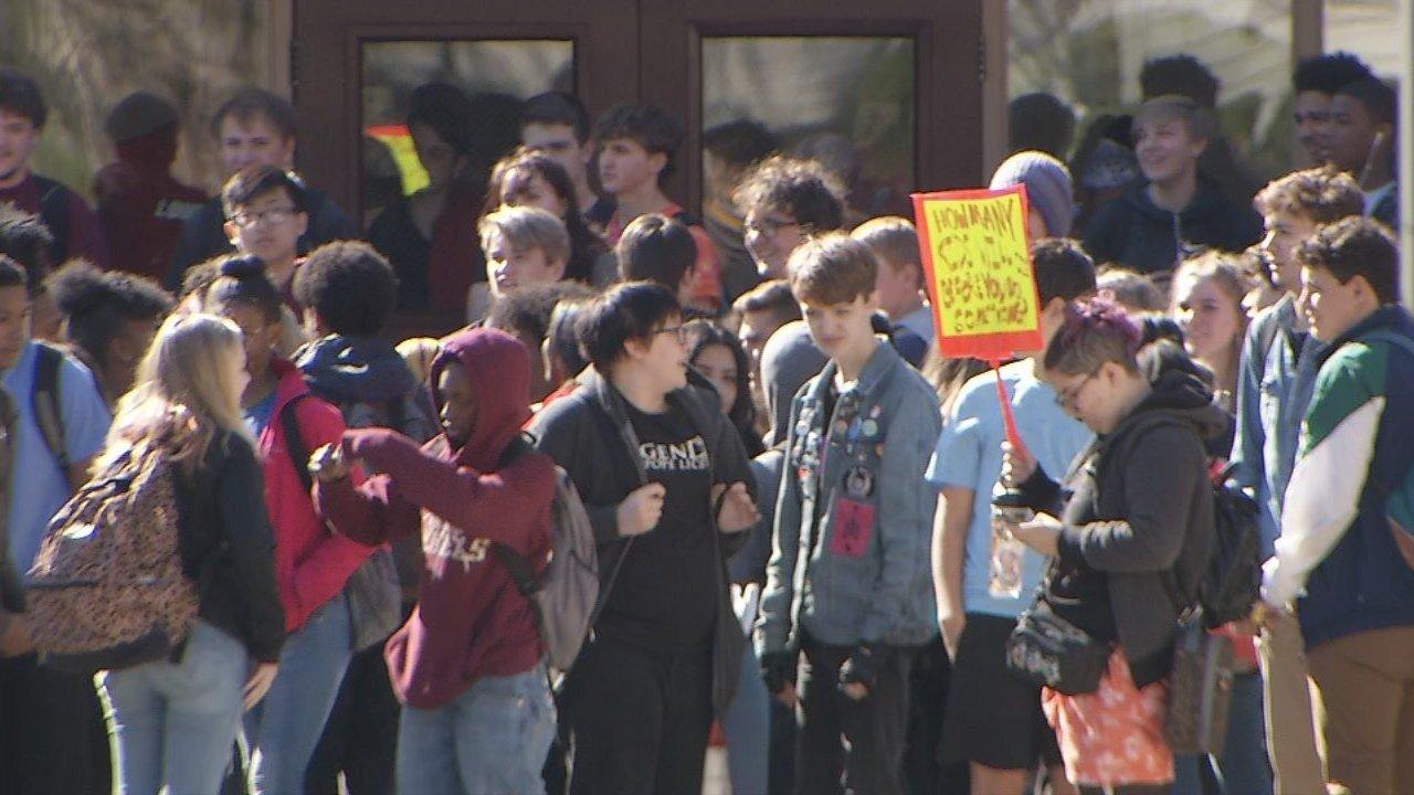 Students across the country -- including some here in Louisville -- walked out of class on Friday to raise awareness about gun violence.