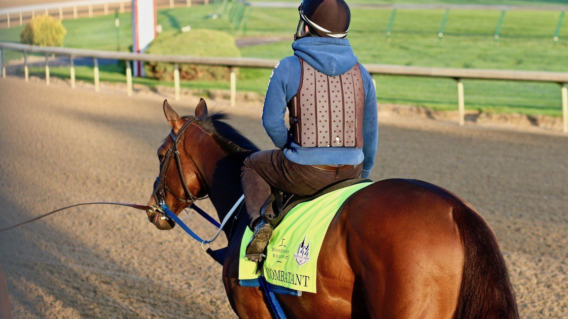 The Steve Asmussen-trained Combatant could enter the Kentucky Derby field if Gronkowski can't make it (WDRB photo by Eric Crawford)