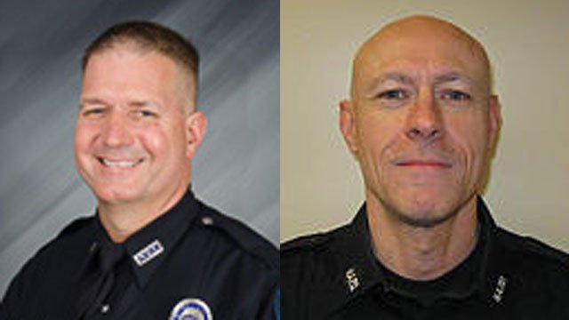 Officer Keith Walz with the Buechel Police Department and Officer Gary Phelps with the Hurstbourne Acres Police Department are on administrative leave after shooting an armed suspect.