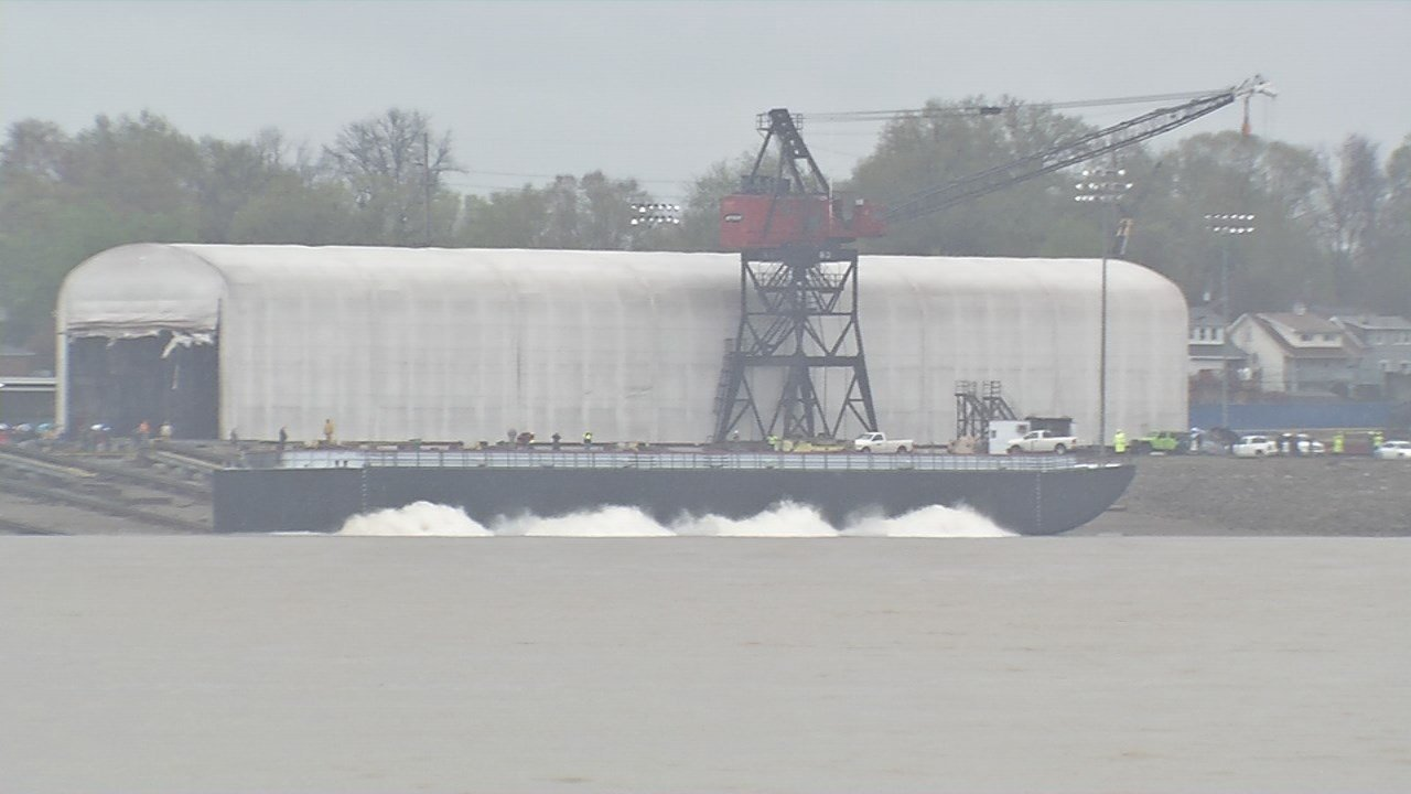 JeffBoat launched its final vessel into the Ohio River on Monday.