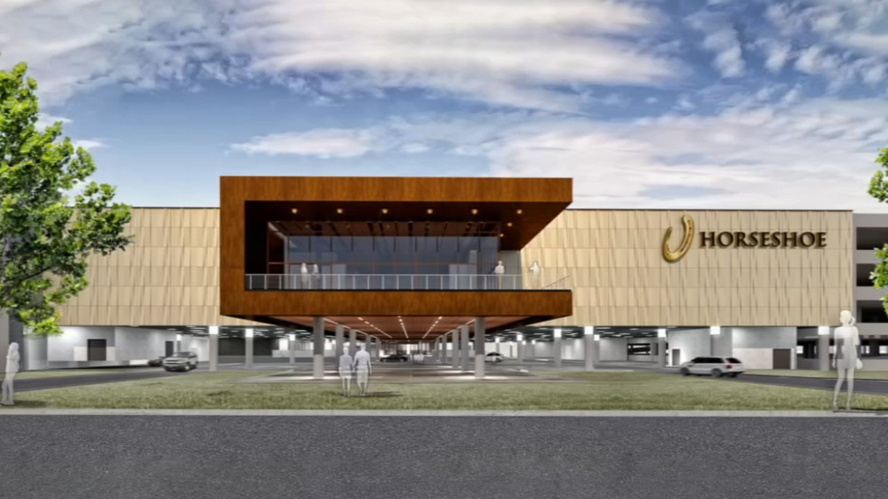 This rendering depicts what an inland Horseshoe Casino would look like if plans are approved.