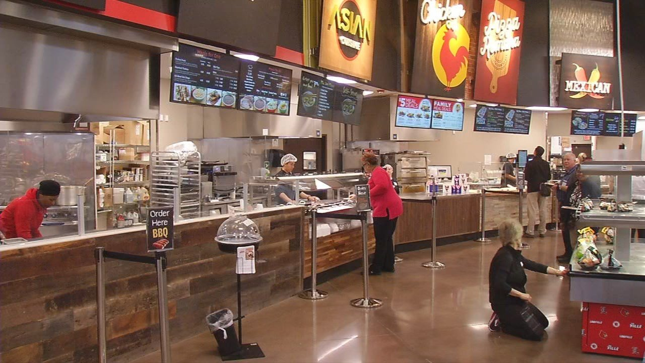 The newly remodeled Kroger on South Second Street has many amenities, including a Starbucks.