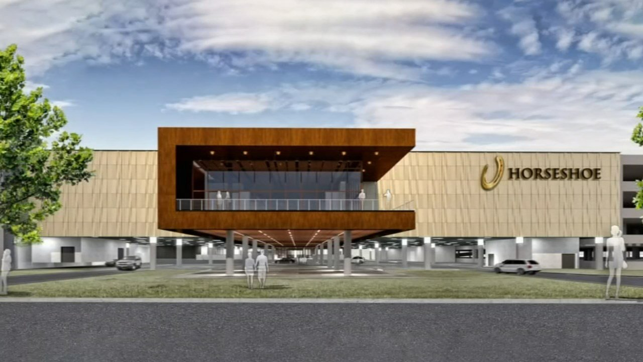The renderings show the casino, restaurants, and entertainment venue and retail outlets.