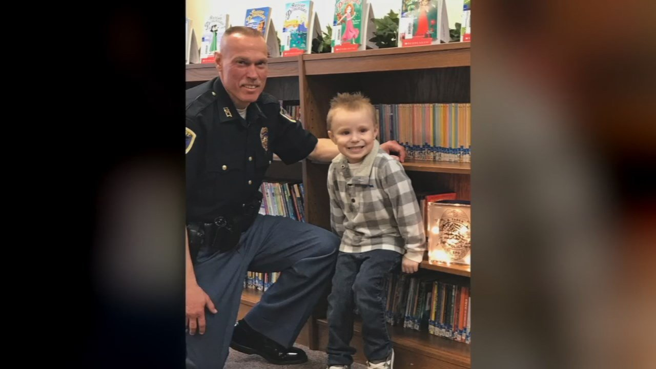Elkhart Police Detective Scott Hupp has also battled the same form of cancer three times in the last five years. He reached out to Brantley's mother to set up a surprise meeting.
