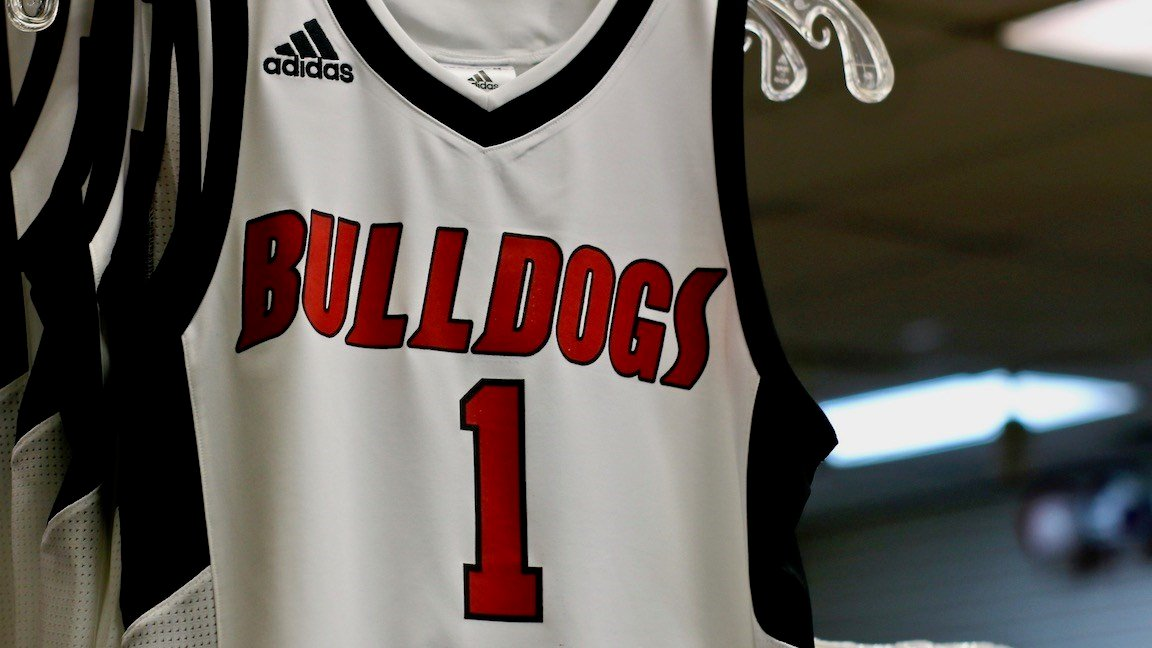 Jerseys with Romeo Langford's number have been a big seller at Kratz Sporting Goods in New Albany. (WDRB photo by Eric Crawford)