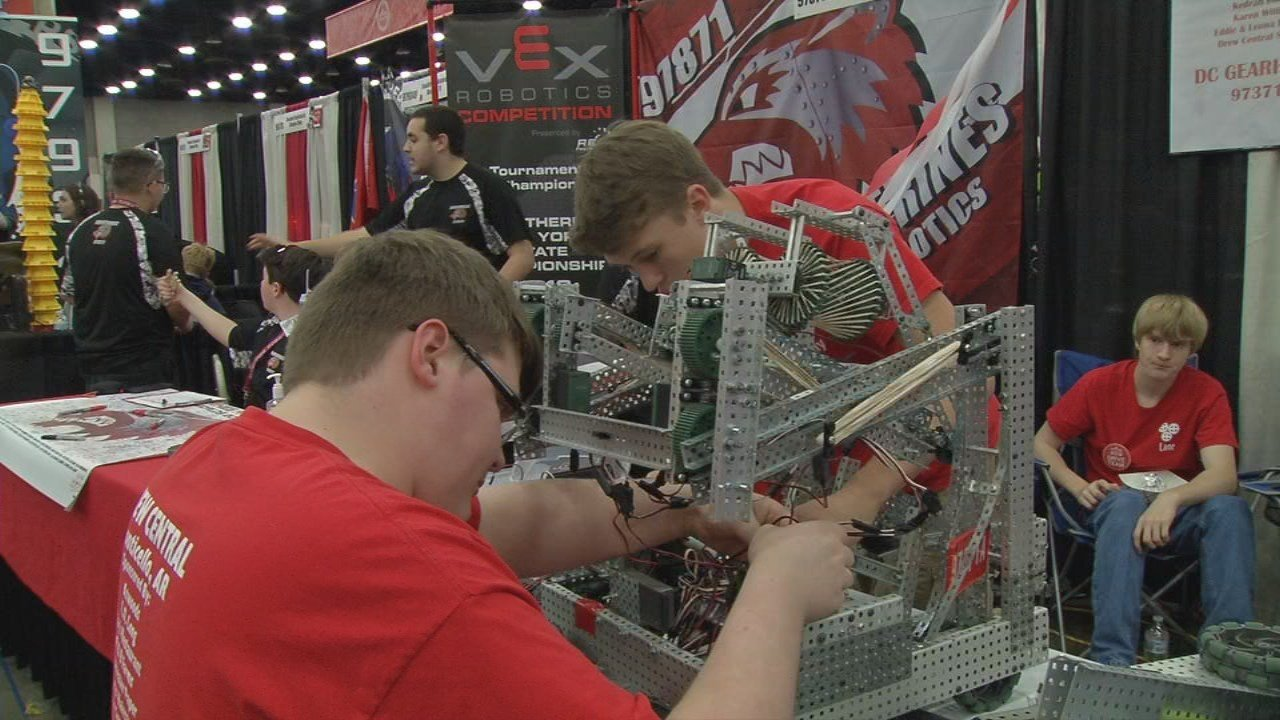 Thousands of students from all over the world have gathered in Louisville for the world's largest robotics competition.
