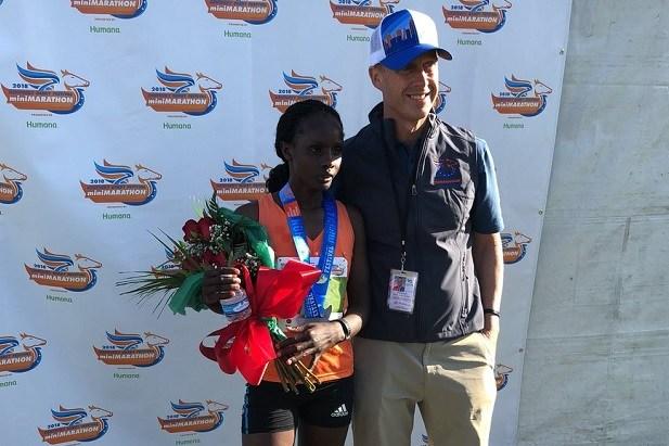 Susan Jesang Tanui (Image Courtesy: KDF Marathon/miniMarathon Twitter)