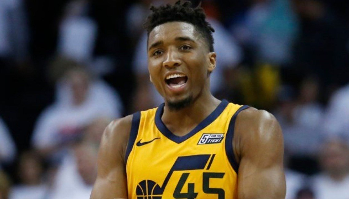 After the first two weeks of the NBA playoffs, former Louisville star Donovan Mitchell is the fifth-leading post-season scorer. (AP photo).