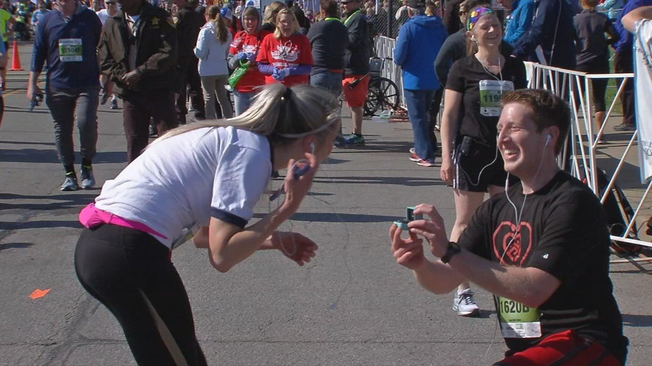 After the race, one of the runners even stopped, got down on one knee, and proposed to his girlfriend in front of the finish line crowd. She was surprised, but said yes.