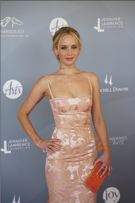Jennifer Lawrence attends Awards in the Arts at Churchill Downs on Saturday. (Photo courtesy of Tim Harris/Fund for the Arts)