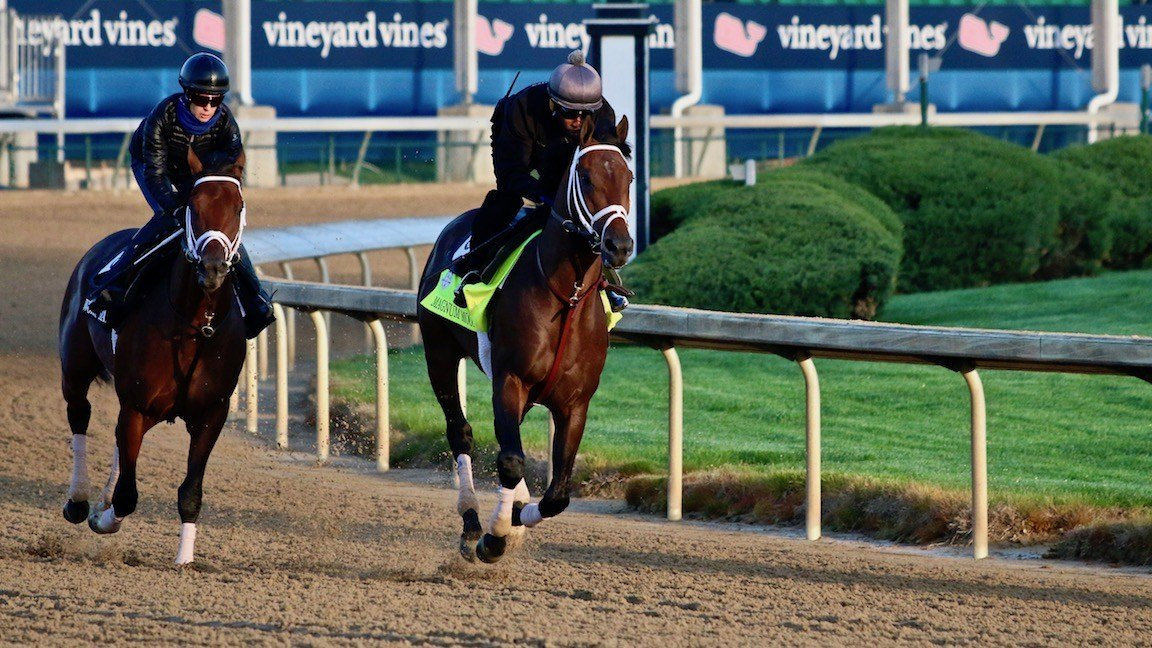 Magnum Moon, right, will be among the favorites for the Kentucky Derby.