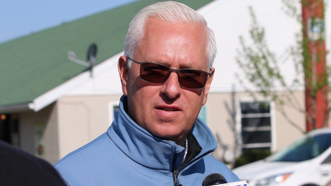 After winning the Kentucky Derby last year with Always Dreaming, trainer Todd Pletcher has four Derby colts this year who won graded stakes races in their last starts. (WDRB photo by Eric Crawford)