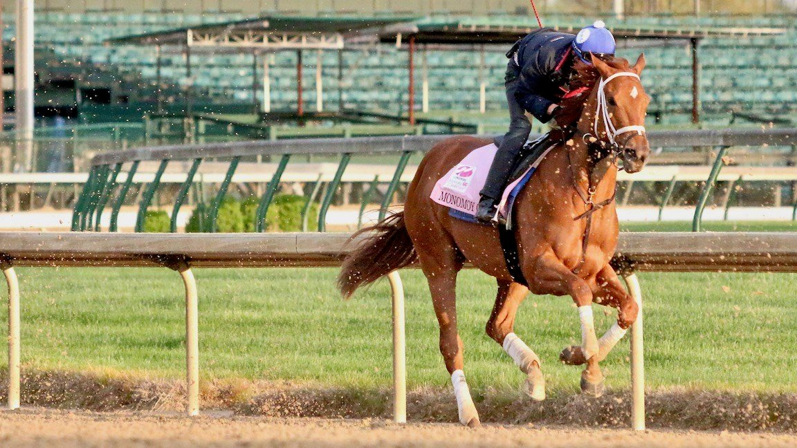 Brad Cox's Monomoy Girl is a 2-1 favorite for Kentucky Oaks 144 (WDRB photo by Eric Crawford)