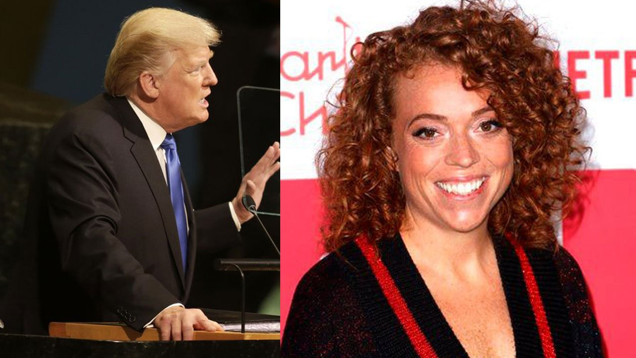 President Trump and comedian Michelle Wolf