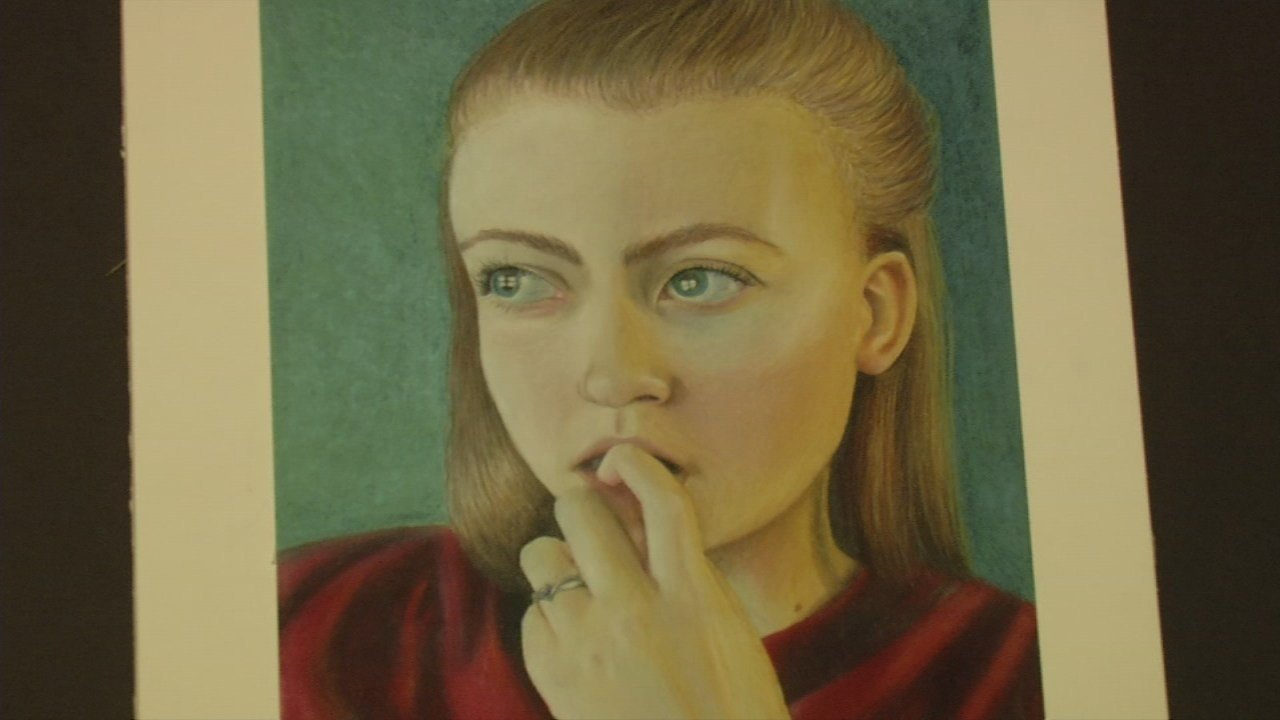 This self-portrait by Atherton High School student Emily Aycock will be displayed at the U.S. Capitol for one year.
