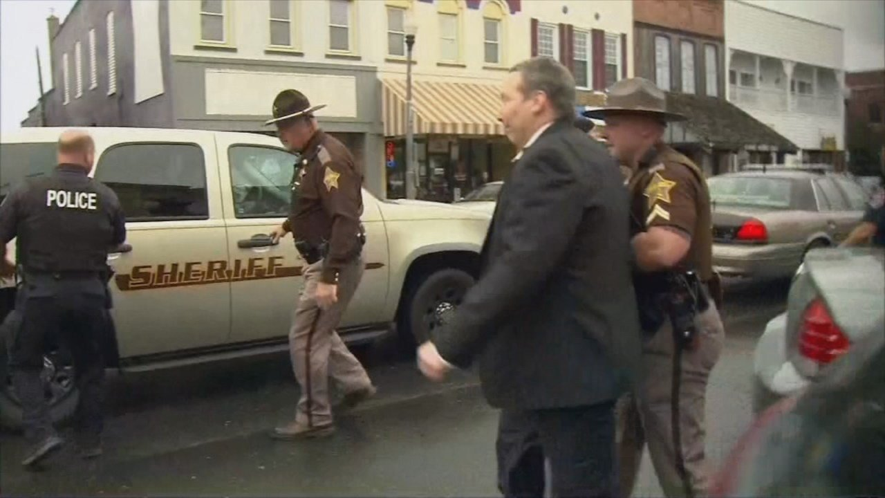 David Camm leaves the courtroom after being acquitted in his third murder trial in 2013.
