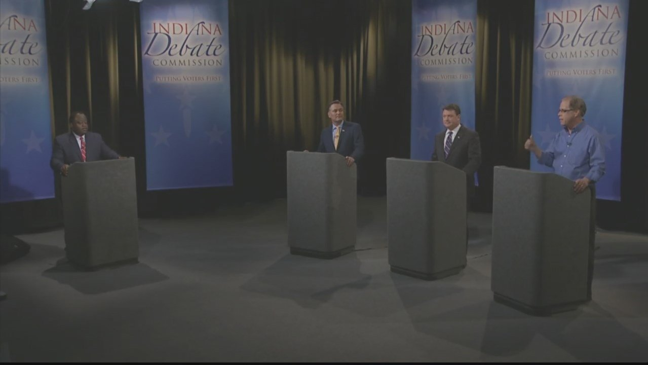 The three GOP candidates for Indiana's U.S. Senate seat  held a debate Monday night.