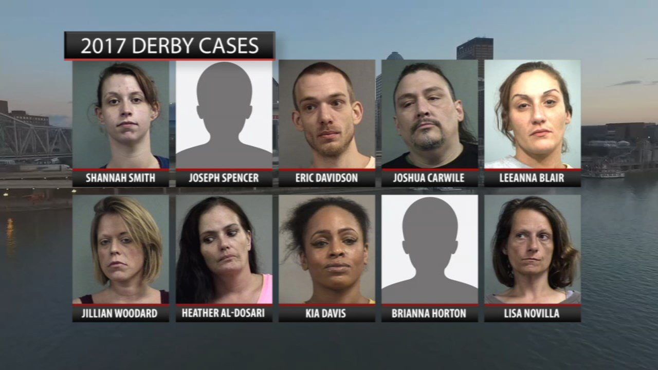 Last year, LMPD officers arrested 10 men and women during human trafficking investigations in the week leading up to and just after the Derby.