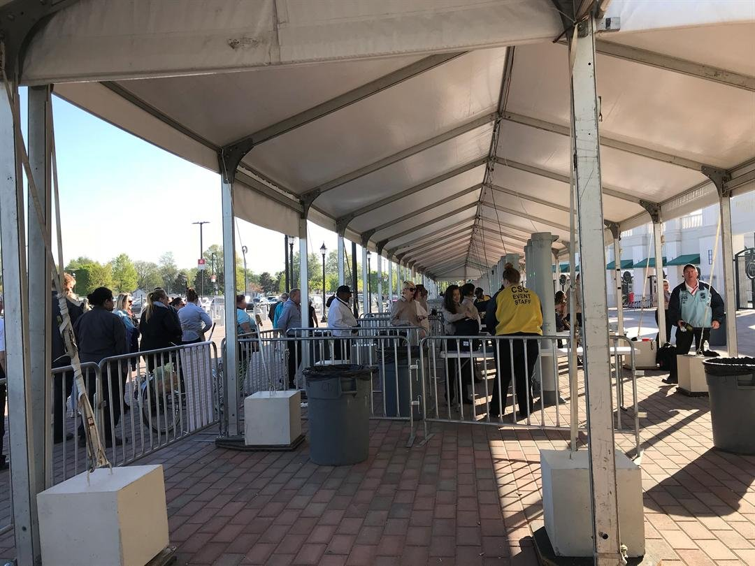 Racing fans will have to pass through several layers of security to get into Churchill Downs.