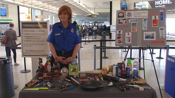 TSA is warning Derby travelers to check baggage for prohibited items.
