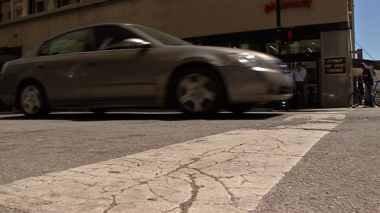 """""""It's kind of embarrassing for out-of-towners anyway, because this is Derby,"""" said a driver. """"We should have better roads than this around Derby anyway."""""""