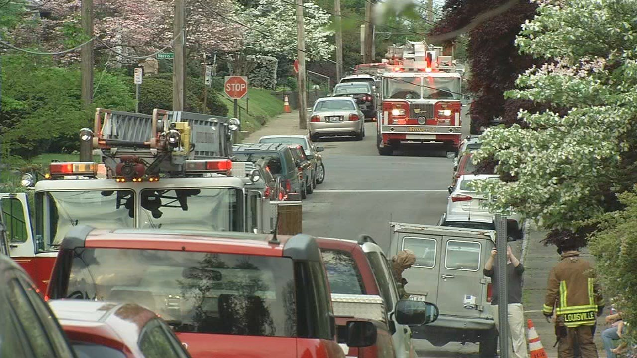 It took 42 firefighters 35 minutes to put out two house fires in the Highlands on Stevens Avenue on May 3, 2018.