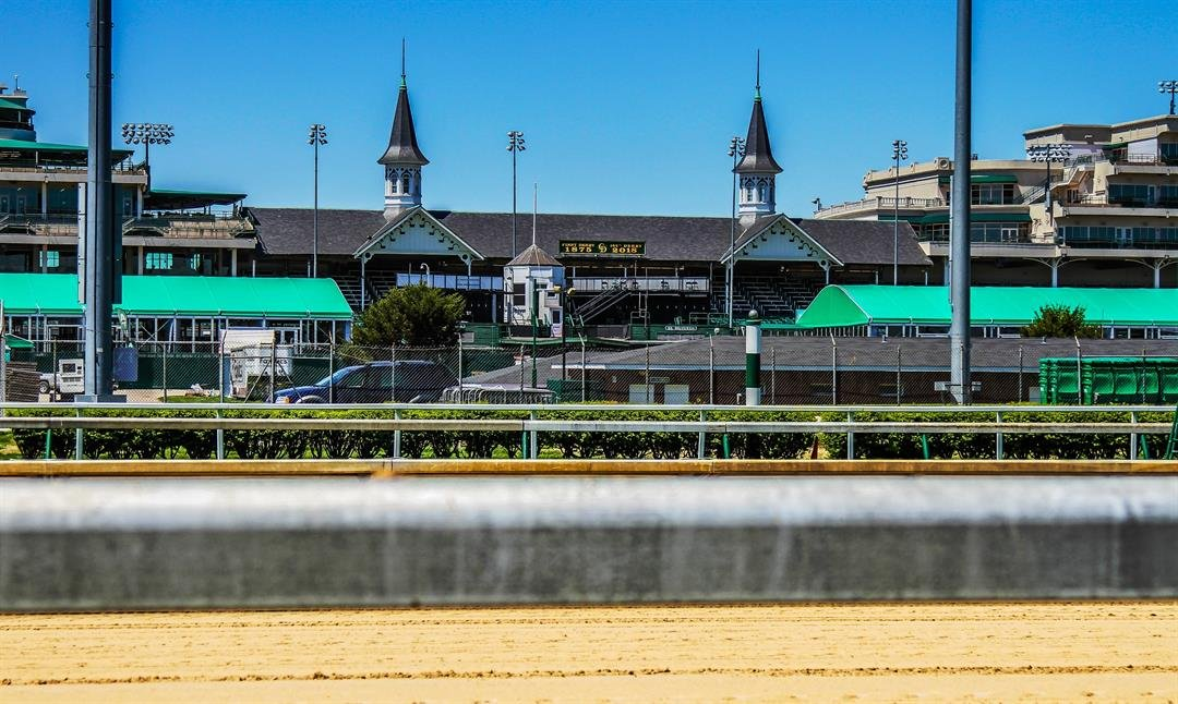 The tax value of Churchill Downs' racetrack at 700 Central Avenue hasn't changed since 2002. (photo by Frank Stamper, WDRB News)