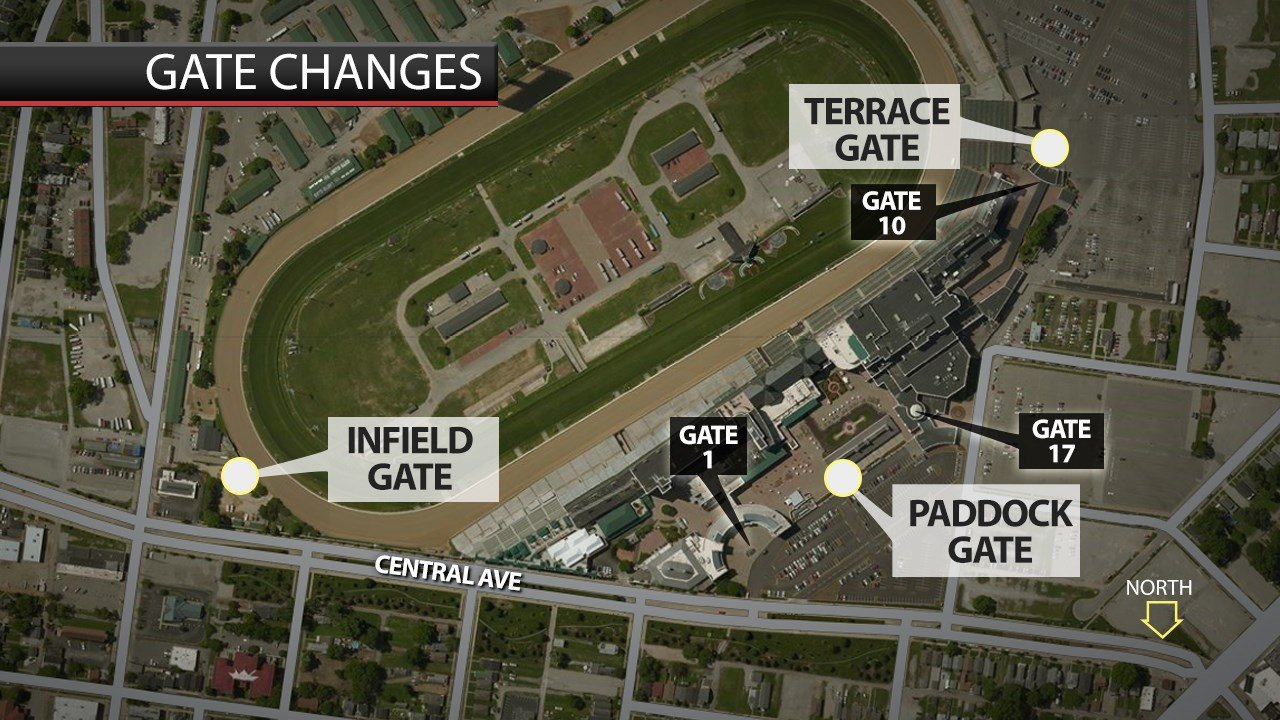 Gates at Churchill Downs have new names instead of numbers.