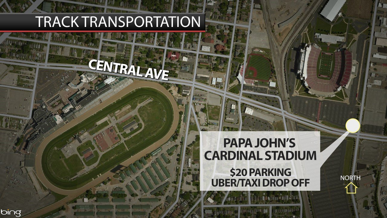 The public can park at Papa John's Cardinal Stadium for $20 a car, but there are no shuttles.