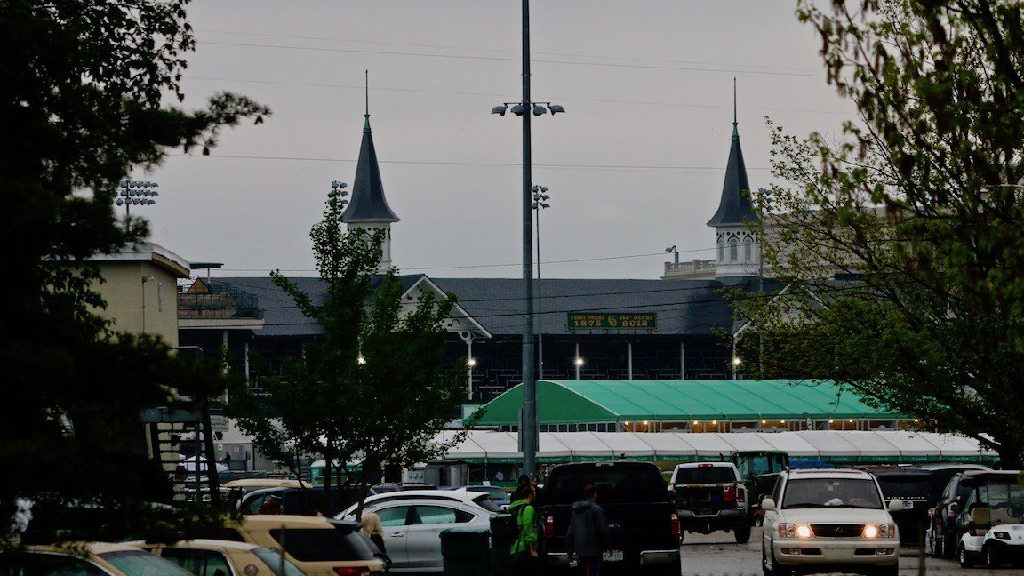 Churchill Downs early in the morning of May 5, 2018 (WDRB photo by Eric Crawford)