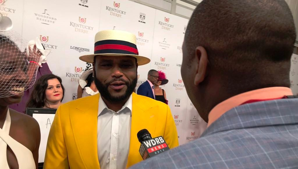 Anthony Anderson of Blackish talked to WDRB's Gilbert Corsey on the red carpet at the 2018 Kentucky Derby.