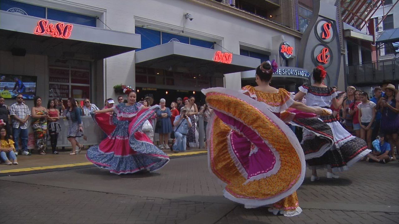 There was face painting, traditional dances, music and much more at Fourth Street Live! Sunday afternoon as part of the celebration.