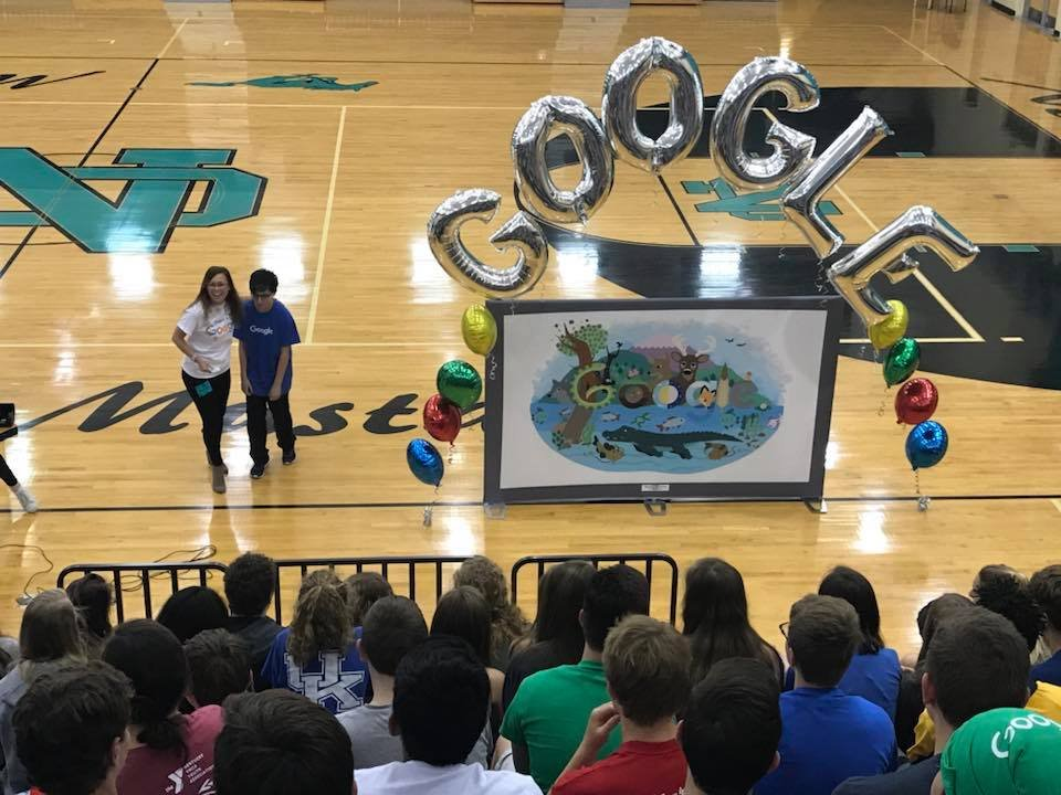 North Oldham H.S. freshman Em Mejias represents Kentucky in the Google Doodle contest. (photo courtesy Oldham County Schools)