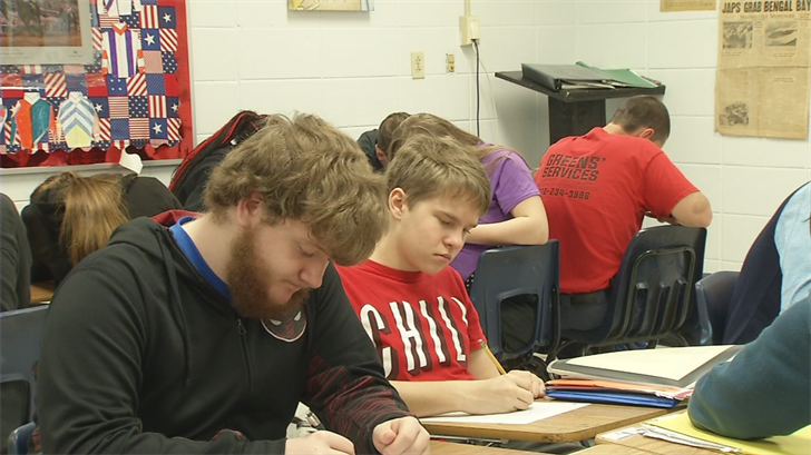 Students at Central Hardin H.S. are ready to take the U.S. Citizenship test to graduate.