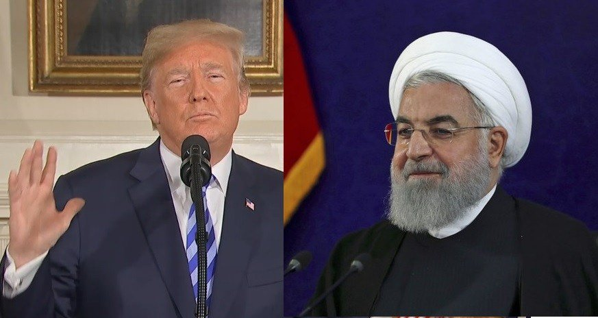 President Donald Trump and iran President Hassan Rouhani