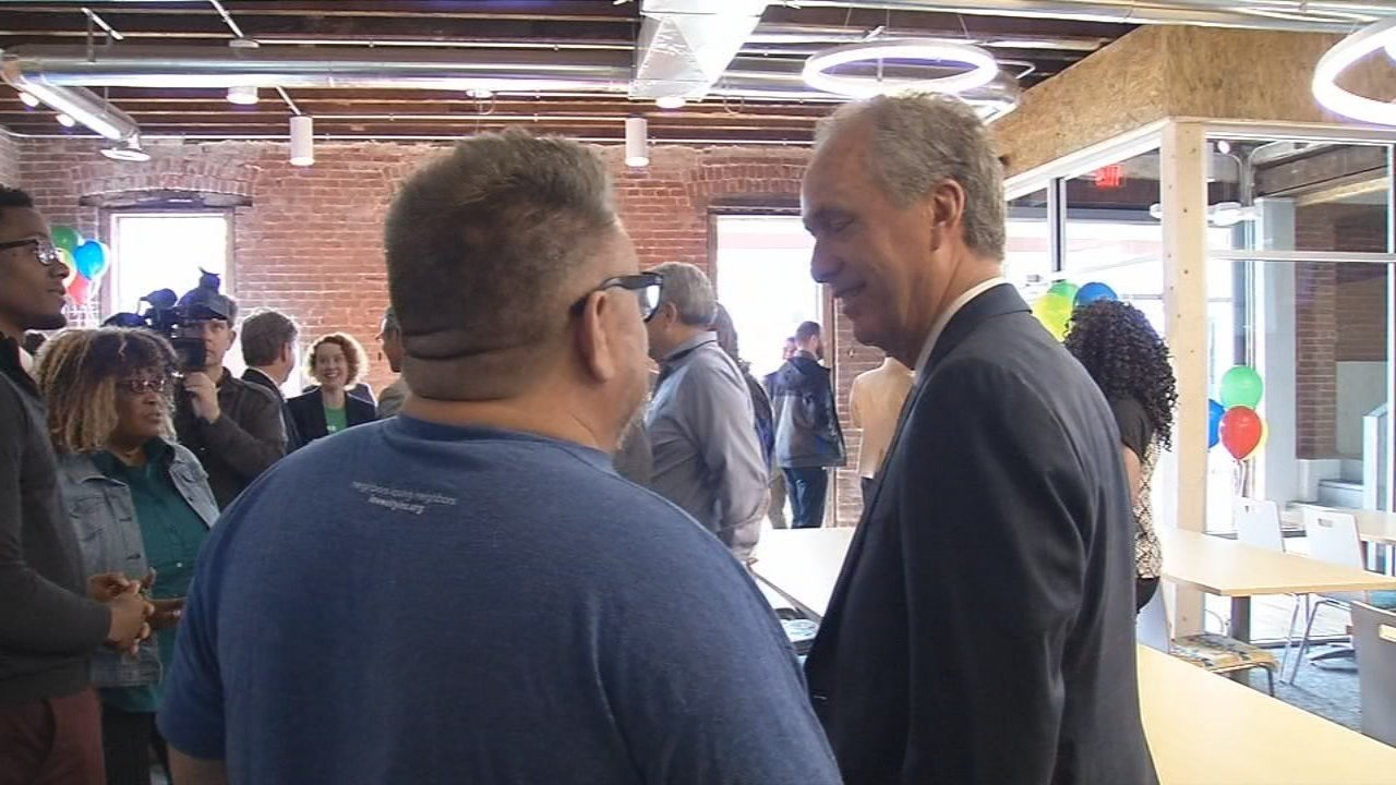 The space, located at 344 North 26th Street, features a 3-D printer and Google Fiber's fastest Internet connection.