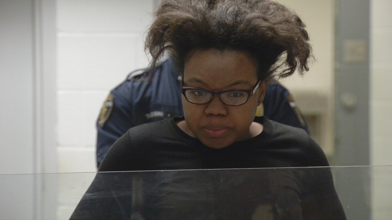 Danesha Peden during a court appearance in Jefferson County Court.