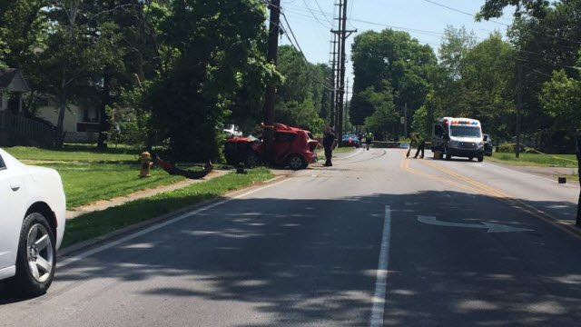 The crash happened at approximately 10:45 a.m. Friday near the intersection of Rockford Lane and Graston Avenue.