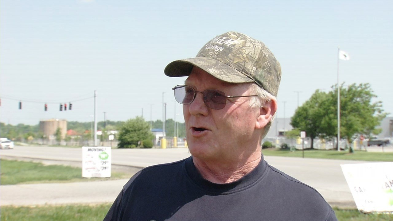 David Brown is a truck driver for M&M Cartage in Louisville. (WDRB)