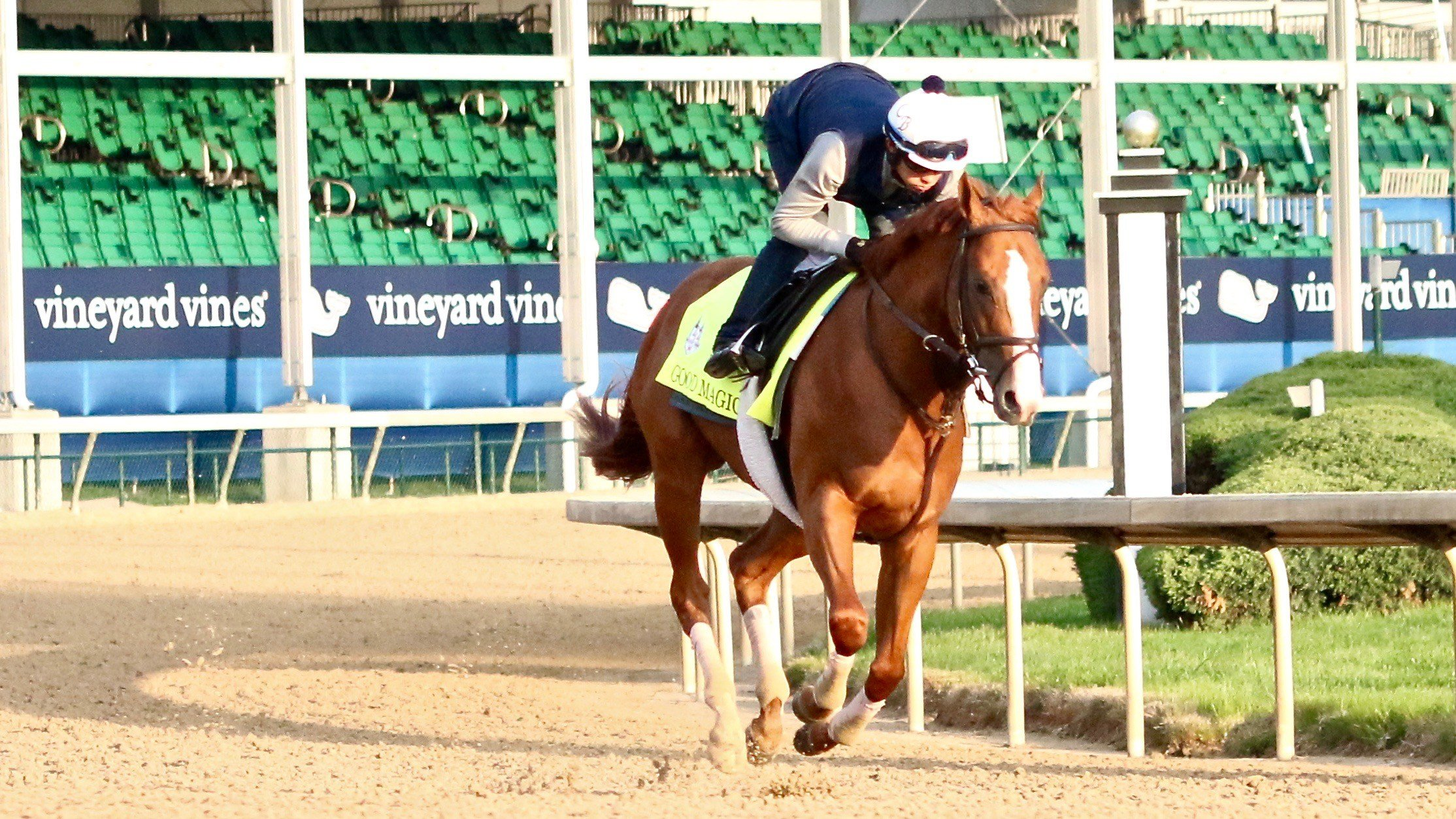 Good Magic while training for the Kentucky Derby (WDRB photo by Eric Crawford)