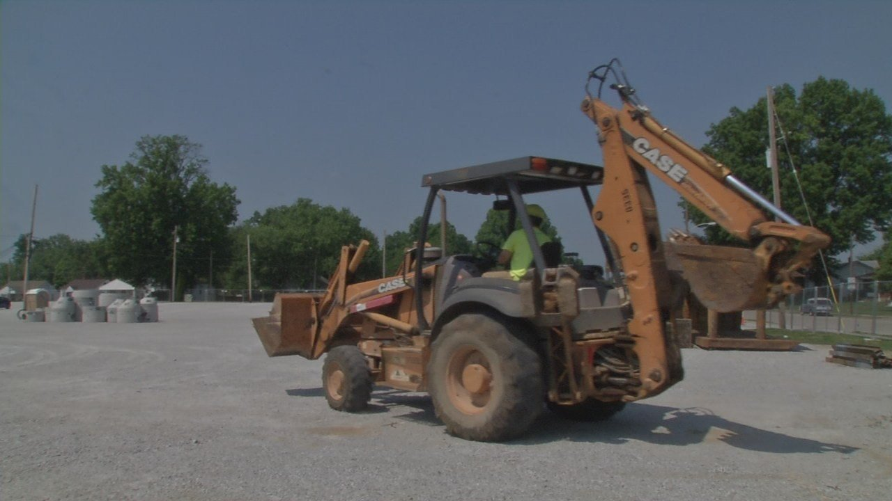 Churchill Downs turned the corner on the second half of its parking makeover on Monday.